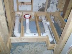basement bathroom plumbing below sewer level