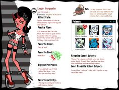 Monster High OC Lucy Fergusin by WhenTheTitleCalls