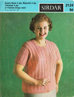 Items similar to PDF Vintage Womens Ladies Knitting Pattern Extra Large Sizes Lacy Cardigan Blouse Preppy Secretary Pin Up Girl RARE on Etsy Sweater Knitting Patterns, Crochet Patterns, Green Goddess, Vintage Knitting, Fitted Bodice, Secretary, Vintage Patterns, Pin Up Girls, Preppy