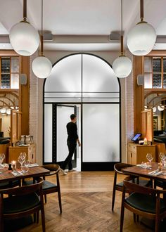 Modern Pantry restaurant designed by AvroKo to reflect the founder's Danish roots
