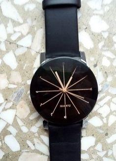 Kup mój przedmiot na #vintedpl http://www.vinted.pl/akcesoria/inne-akcesoria/16212580-damski-zegarek-czarny-retro-czarny-pasek