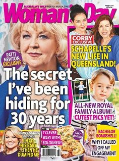 #WomensDay #magazines #covers #August #2016 #celebrity #PattiNewton #royals #PrinceGeorge #thebachelor #schapellecorby #food #recipes
