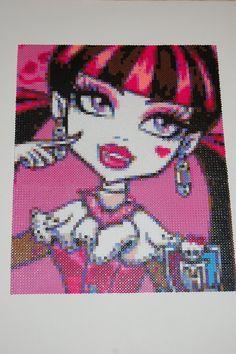 Monster High Draculaura perler bead design