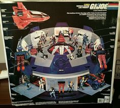 G.I JOE A Cobra Command Weapon Cobra Terror Drome With Firebat