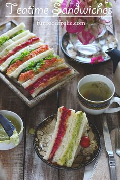 Teatime Sandwiches are the best menu choices for the summer tea party. They have beet, carrot and lot more good stuff. funfoodfrolic.com