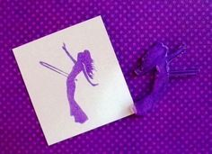 hooping girl clear polymer rubber stamp by sugarskull7 on Etsy, $7.00
