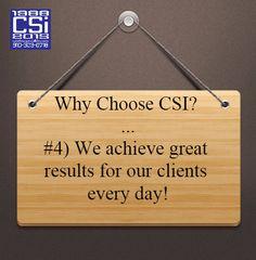 #4) Why Choose CSI? #CSIPromos