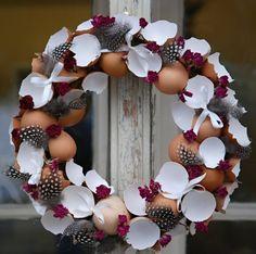 Kranz mit Eierschalen basteln Inspiriende Ideen für den Frühling und das Osterfest