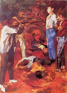 """""""La fucilazione in campagna"""", 1938 Renato Guttuso"""
