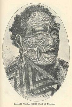 Tamati Waka Nene, Chief of Ngapuhi Polynesian People, Polynesian Islands, Ta Moko Tattoo, Ohm Tattoo, Maori Tattoos, Tatoos, Haka New Zealand, Maori Tribe, Maori People