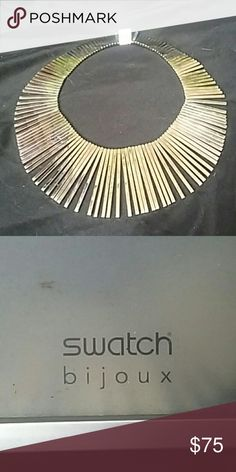Necklace This wonderful piece of jewelry dresses simple wardrobe up in a second. It's a vintage swatch neckless made of stainless steal. It's only been worn once by me and I hope it gets out of it box to make you shine Swatch Jewelry Necklaces