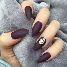 """77 Likes, 1 Comments - ✨Doobys Nails✨ (@doobysnails) on Instagram: """"✨This Colour ✨ Search: """"Maroon Matte Stiletto"""" www.DoobysNails.com #nails #nail #fashion #style…"""""""