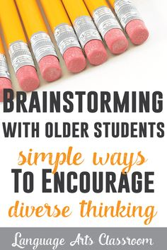 Looking to get students thinking before writing? Here are quick and effective ways to get older students brainstorming.