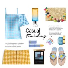 """Casual friday"" by gul07 ❤ liked on Polyvore featuring Lacoste, Draper James, Calvin Klein, Yves Saint Laurent, Estée Lauder and Lipstick Queen"
