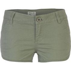 RVCA Downtowner Short (€25) ❤ liked on Polyvore featuring shorts, bottoms, short shorts, urban shorts, rvca, rvca shorts and low rise short shorts