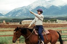 Coordination exercises on horseback- great activities for kids while on the longe line!