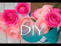 Розы из гофро бумаги /Rose crepe paper DIY Tsvoric - YouTube