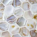 Merola Tile, Conchella Hexagon 12 in. x 12 in. x 3 mm Natural Seashell Mosaic Wall Tile, GDXCHXN at The Home Depot - Mobile