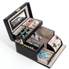 Songmics Caja Joyero Joyas Aretes Dijes anillo de la pulsera joyería caja de almacenamiento de regalo JBC114: Amazon.es: Joyería