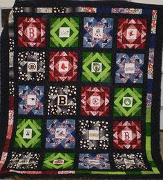 Boston Sports Quilts Idea  http://www.flickr.com/photos/77872772@N00/2905818015/in/photostream