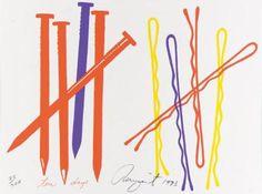 James Rosenquist, Nails & Hair Pins