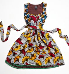 Adorable! Ankara wax print dirndl by noh nee