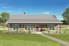 One Level House Plans, Metal House Plans, Shed House Plans, Ranch House Plans, Cottage House Plans, Small House Plans, Cottage Homes, House Floor Plans, Ranch Style Floor Plans