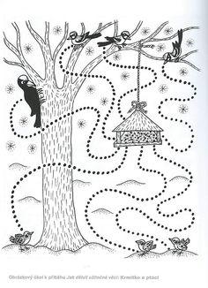Preschool Writing, Preschool Worksheets, Preschool Activities, Winter Crafts For Kids, Fall Crafts, Art For Kids, Feeding Birds In Winter, Coloring Sheets For Kids, Paper Birds