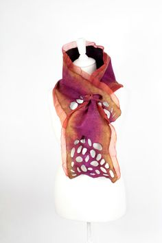 Felted scarf NEW collection 2013 special and by FeltFieltroFilc, €49.00