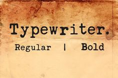 Typewriter Font by Monogram on @creativemarket