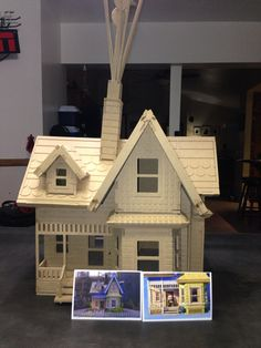 Large Up House Model Kit Birthday Proposal Engagement Anniversary Wedding Laser Engraved Wooden Model Gift Present