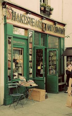 "Shakespeare and Company bookstore in Paris - the bookstore featured in ""Before Sunset"" and ""Midnight in Paris"""