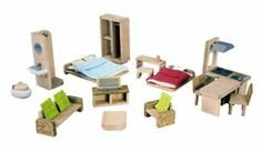 PlanToys The Green Dollhouse Furniture Set by Plan Toys. $34.99. PlanToys is committed to minimizing their impact on the environment. Encourages creative play in a positive learning environment. PlanToys practices The three R's of Green Living-- Reduce, Reuse, Recycle. Made from non-toxic natural materials such as organic rubberwood. Recognized by some of the most prestigious awards in the industry. From the Manufacturer                PlanToys is proving that it is possi...