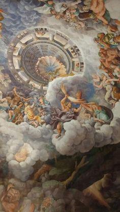 Optical illusion. Te Palace. Mantova Italy