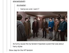 This hijacking of a One Direction post. | 22 Tumblr Posts To Remind You That Harry Potter Fans Are Hilarious