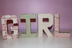 Smashed Peas and Carrots: Fabric Block Letter Tutorial