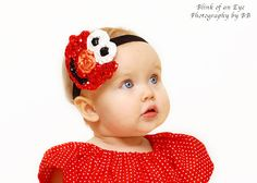 The Little Red Monster Headband by SweetnessBows on Etsy, $13.50- for Kinley