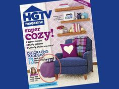 Plow & Hearth's Pouf Ottoman (#37040) is on the cover of HGTV Magazine's October issue, now available on newsstands!