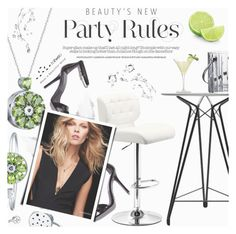 """Let This Party Started"" by totwoo ❤ liked on Polyvore featuring Nuans Design, Baccarat, Martha Stewart and NARS Cosmetics"