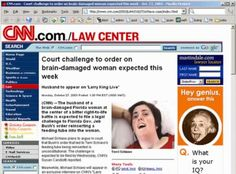 """Court challenge to order on brain damaged woman - ad next to it """"Hey genius answer this: what's your IQ ?"""""""