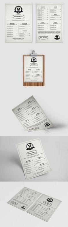Food / Restaurant Menu Flyer-V367. Flyer Templates. $7.00