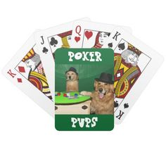 Golden Retriever Poker Pups