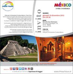 Messico Serata Roma Press Tours in collaborazione con Ente del turismo del Mexico