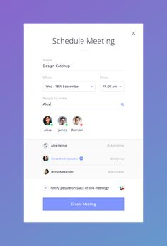 Schedule meeting full