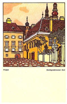 Wiener Werkstätte postcards – part 2 Art Block, Illustrations And Posters, Urban Sketching, Artist Inspiration, Postcard, Art Deco Illustration, Postcard Printing, Woodcut, Prints