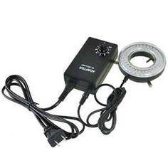 AmScope LED-64-A Microscope Ring Light Illuminator, Stereo Microscope LED Ring Light with Dimmer, 9W 90V-260V 64-LED #microscope