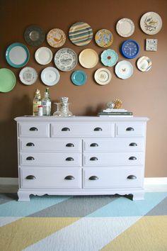 DIY Wallpapered Dresser, featuring Annie Sloan Chalk Paint | Dream Green DIY