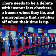 A funny meme about how to properly hold a presidential debate.