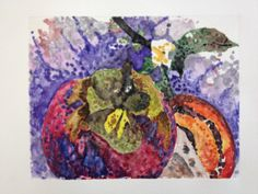 A new monoprint in purples