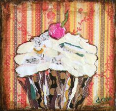 "For Sale: sweet song by Drew Trombley | $100 | 7""w x 7""h | Original Art | http://www.vangoart.co/buy/art/sweet-song @Vango"